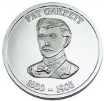Pat Garret Collectible Medallion - Silver Finish